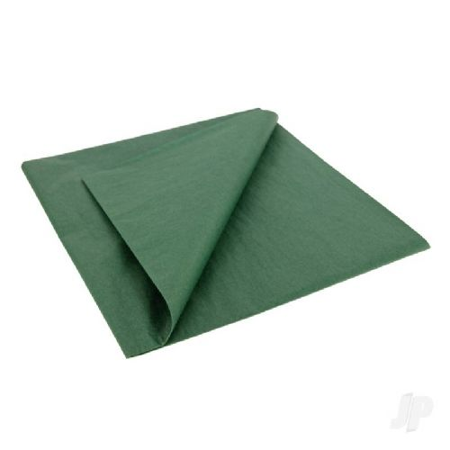Dark Green Lightweight Tissue Covering Paper, 50x76cm, (5 Sheets)